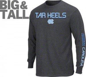 Big tall plus size north carolina tar heels hoodie nc t for Plus size tall t shirts