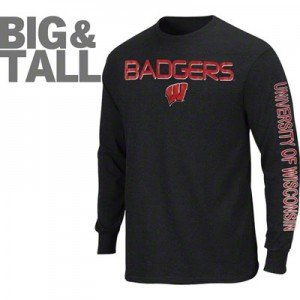 Wisconsin Badgers Big and Tall Apparel, Wisconsin Badgers Women's Plus Size Apparel, 3X Wisconsin Badgers, 4X Wisconsin Badgers shirts