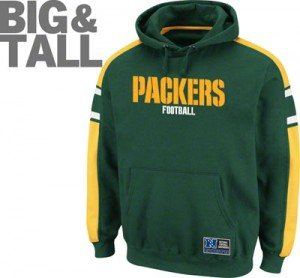 Big and Tall Green Bay Packers, Plus Size Packers Apparel