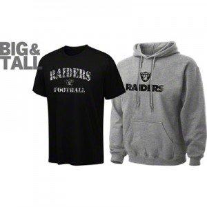 Oakland raiders big tall plus apparel 3x 4x 5x 6x xlt for Plus size tall t shirts
