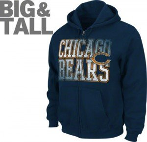 big and tall chicago bears jacket, chicago bears plus size apparel