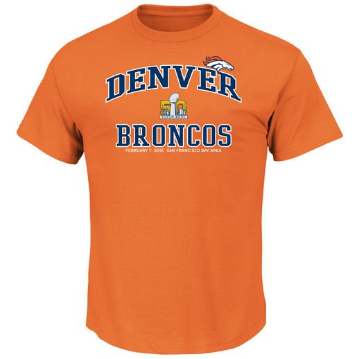big and tall denver broncos t-shirts, broncos super bowl 50 t-shirt, 3x 4x 5x denver broncos t-shirts, big and tall denver broncos apparel