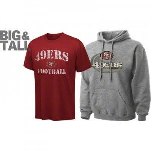 San Francisco 49ers Big and Tall, 49ers plus size apparel