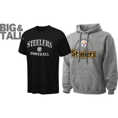 hot sale online 23812 37b15 Pittsburgh Steelers Big, Tall, Plus T-Shirts, Jackets ...