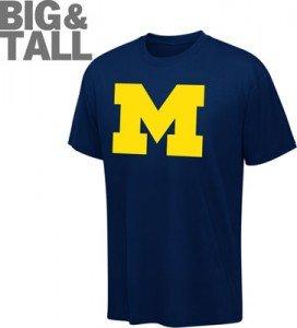 Michigan Wolverines Big Plus 2x 6x Tall Xlt 4xt T
