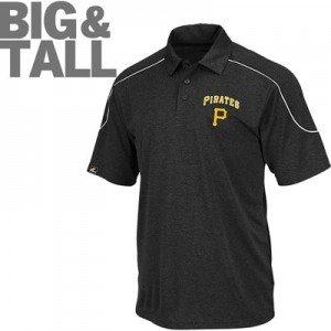 Pittsburgh pirates big tall plus size tee polo shirt for Big and tall polo t shirts